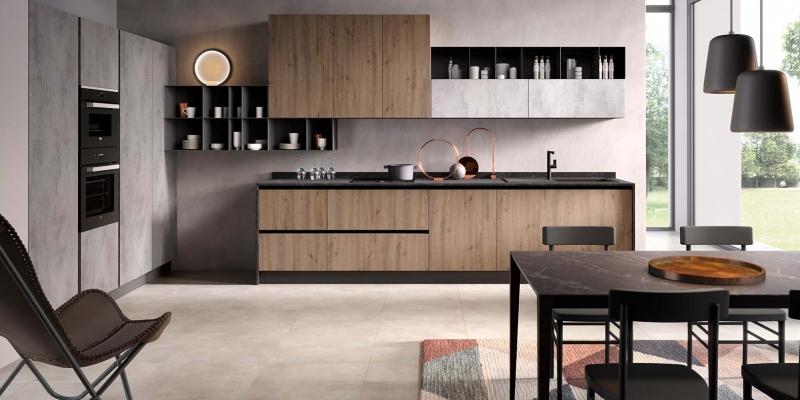 00-evo-cucina-aurora-gola-rovere-nodato-tabacco-cemento-grigio-chiaro